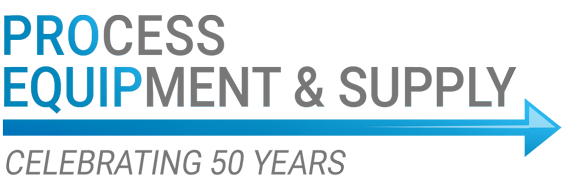 Process Equipment & Supply, Celebrating 50 Years logo
