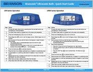 Bransonic Quick Start Guide PDF