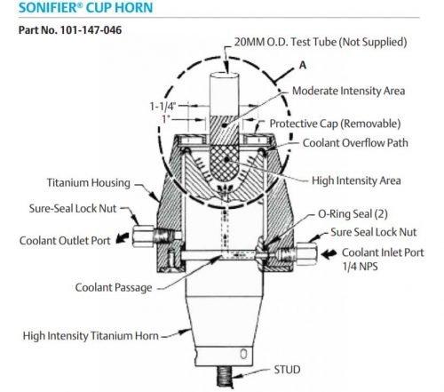 01-147-046 Sonifier High Intensity Cup horn diagram
