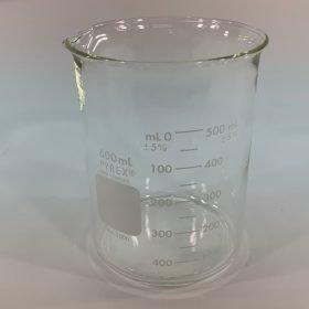 Branson 600 ml glass beaker, 000-140-004