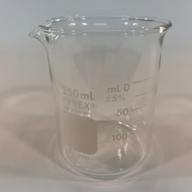 Branson 250 ml glass beaker, 000-140-001